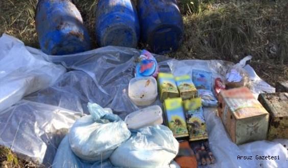 Arsuz'da PKKya ait depo ve sığınak tespit edildi...