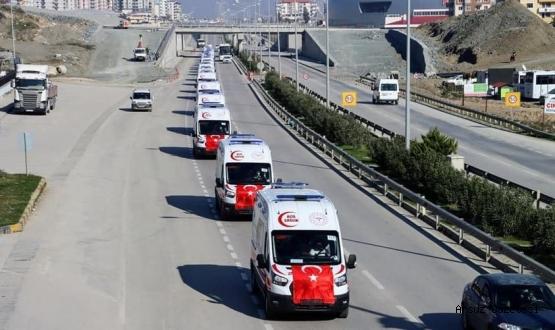 Hatay'da 35 yeni ambulans göreve başladı