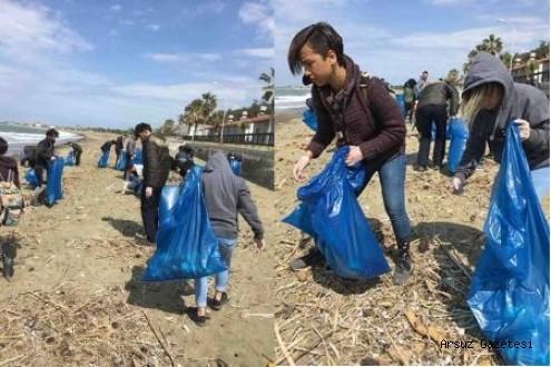 Hatay'lı gezginler grubu Arsuz sahillerini temizledi…