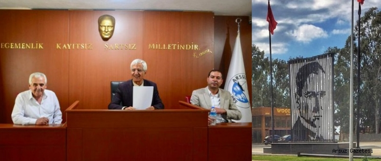 """Arsuz'da Kent Meydanının Adı """"ATATÜRK"""" oldu."""