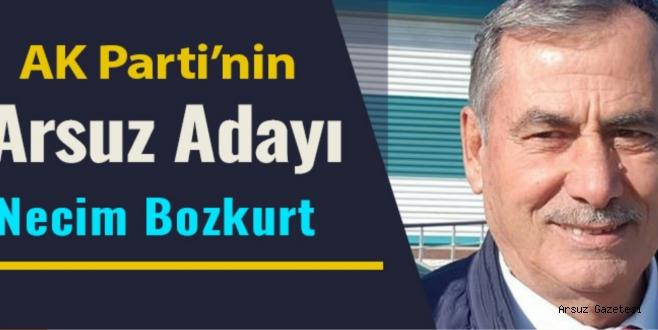 Son Dakika: AK Parti'nin Arsuz Adayı Necim Bozkurt Oldu!